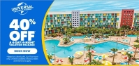 40% off with universal orlando resort